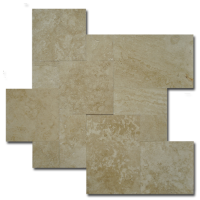Ivory Brushed Versailles Pattern