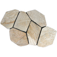 Oyster Quartzite Random Slate on Mesh