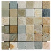 2x2 Oyster quartzite mosaics
